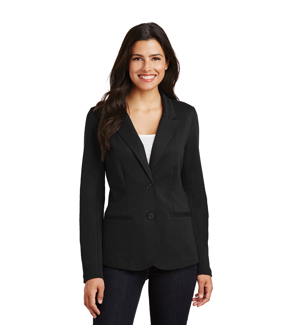 Women's Blazer Black Model Front