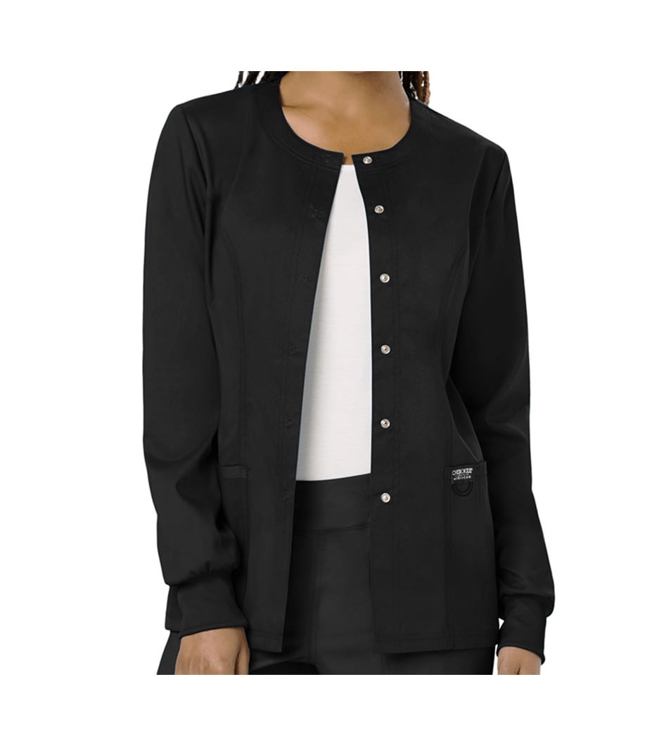 Black Ladies Warm-Up Jacket