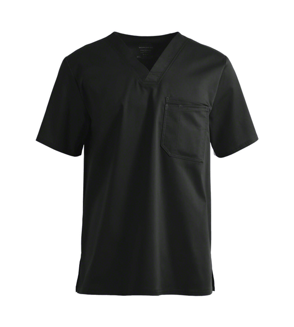 Black Men's Scrub Top