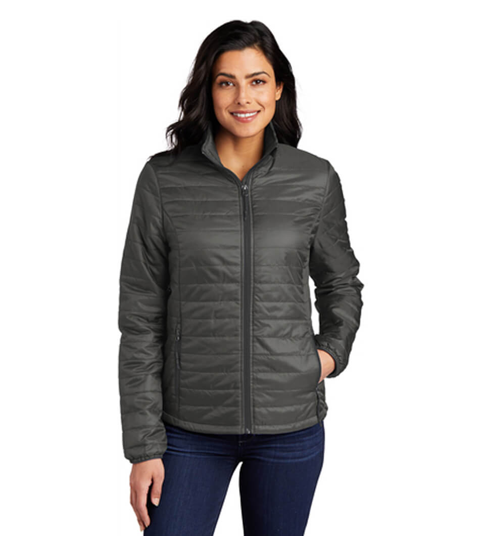 Women's Packable Puffy Jacket Sterling Grey-Graphite
