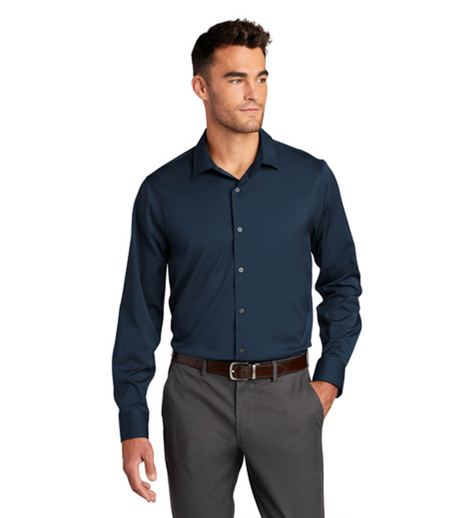 Men's City Stretch Shirt River Blue Navy