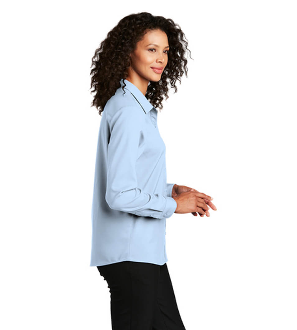 Women's Long Sleeve Performance Shirt Cloud Blue