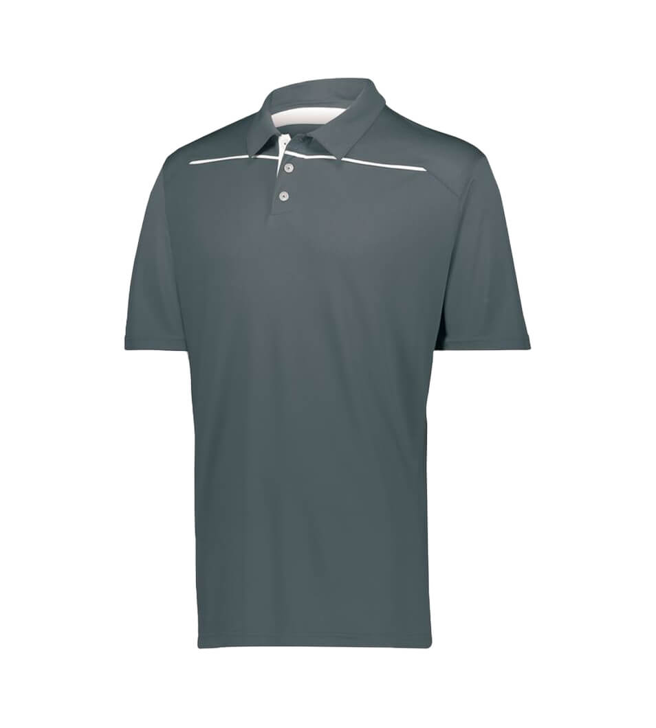 Men's Defer Polo Graphite-White