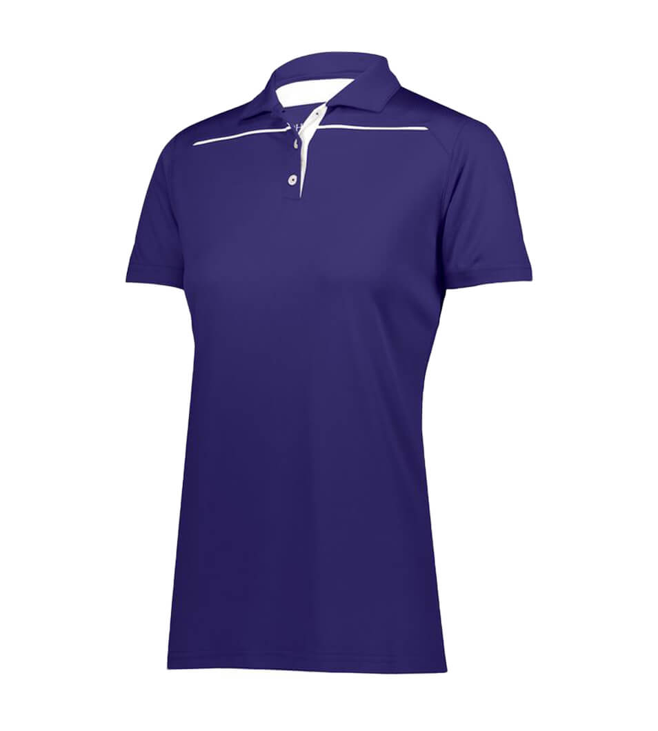 Women's Defer Polo Purple/White