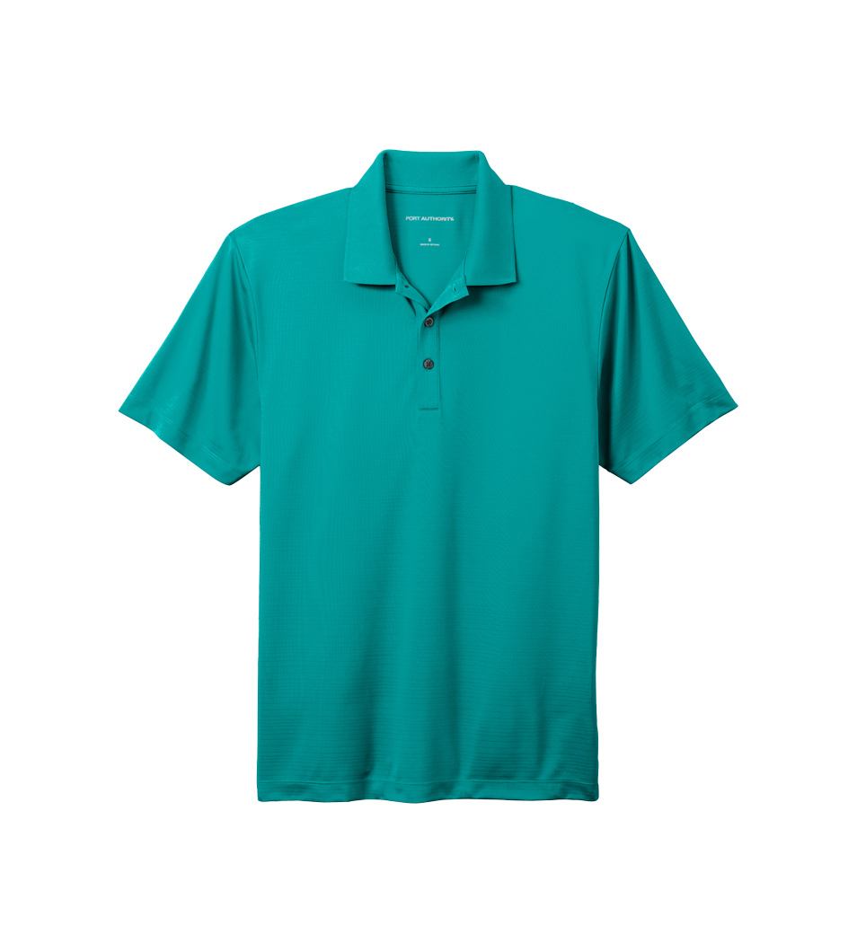 Men's Eclipse Stretch Polo Tropic Blue Flat Front