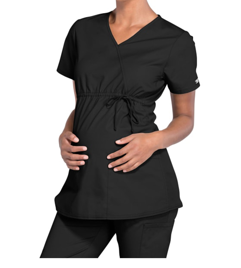 Maternity Mock Wrap Top For Student